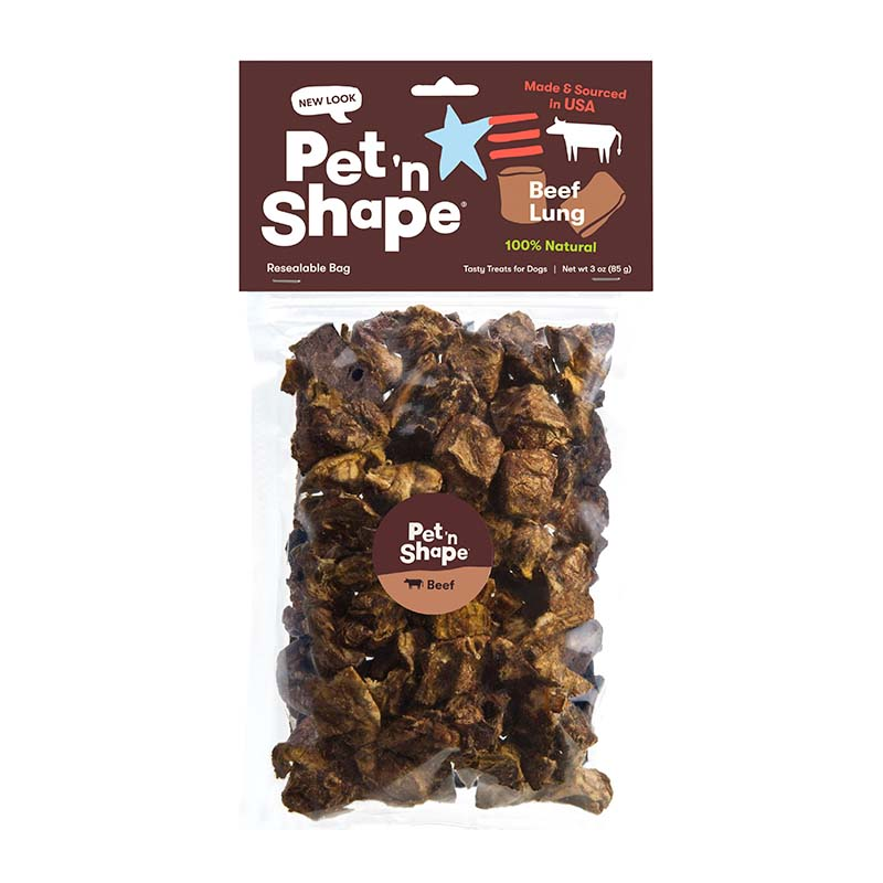Pet 'n Shape All-Natural Dog Chewz Beef Lung 3 oz Bag