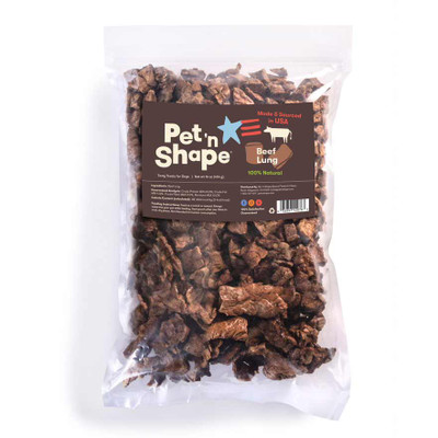 Pet 'n Shape All-Natural Dog Chewz Beef Lung 1 lb Bag