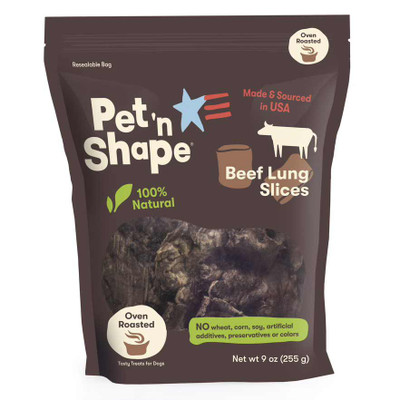 Pet 'n Shape All-Natural Dog Chewz Beef Lung 9oz Bag