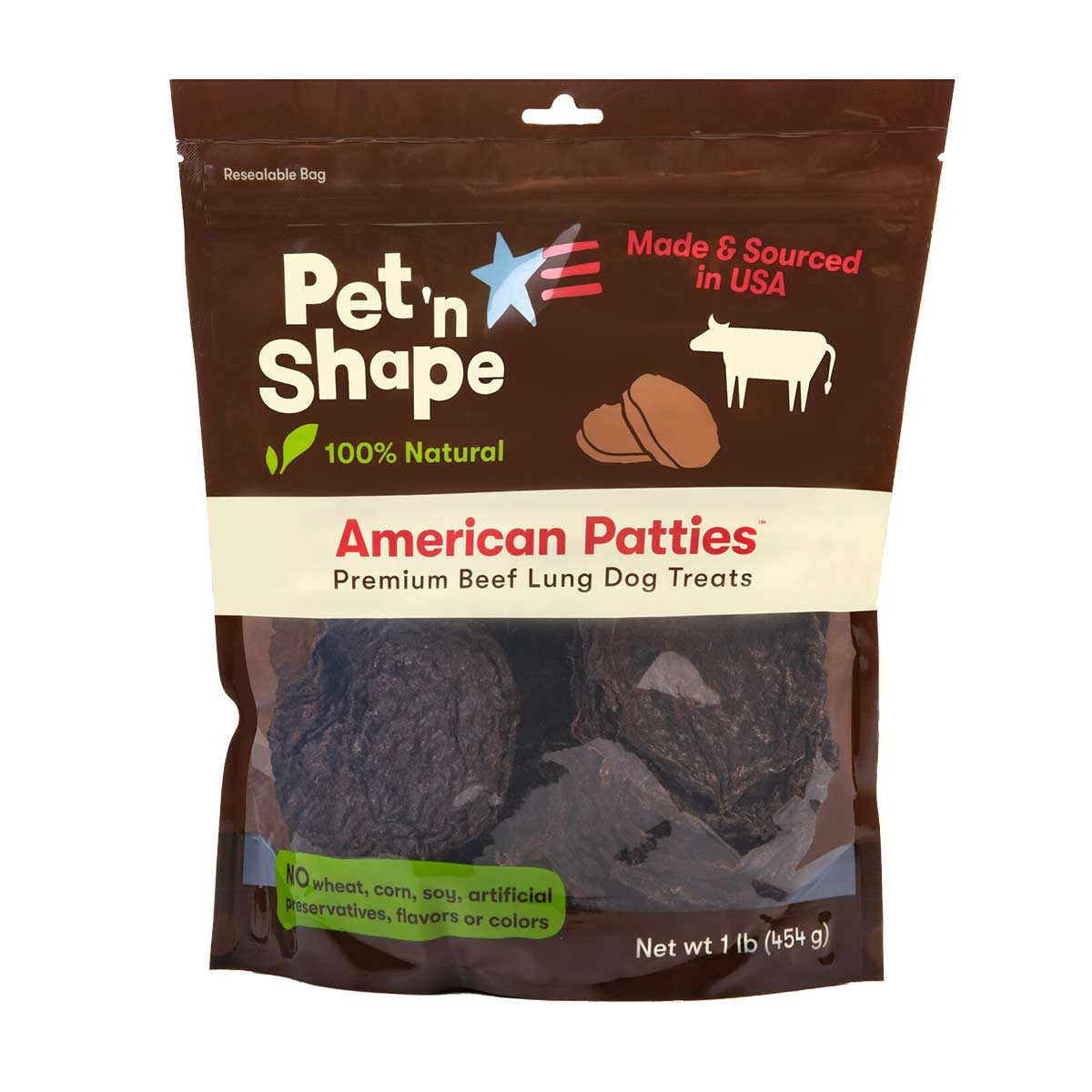 16 oz of Pet 'n Shape American Patties