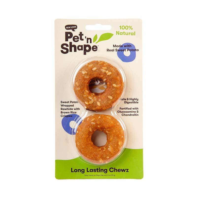 Pet 'n Shape Long Lasting Chewz Sweet Potato 2.5 inch Ring 2 pack