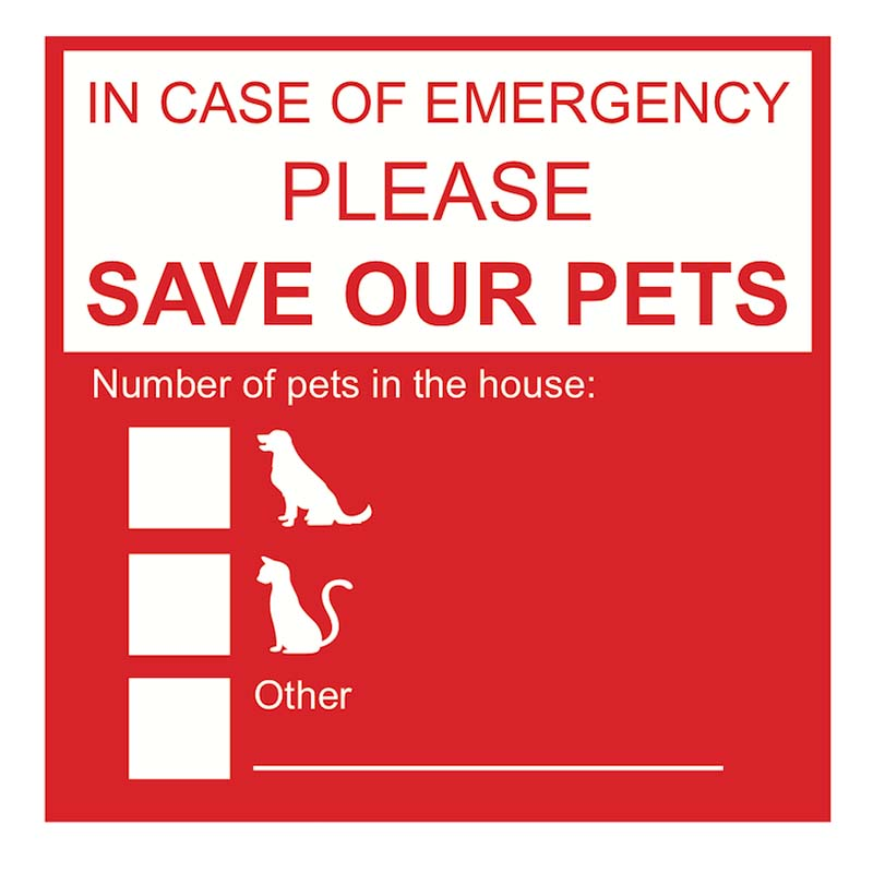 Save Our Pets Sticker - Red available at Ryan's Pet Supplies