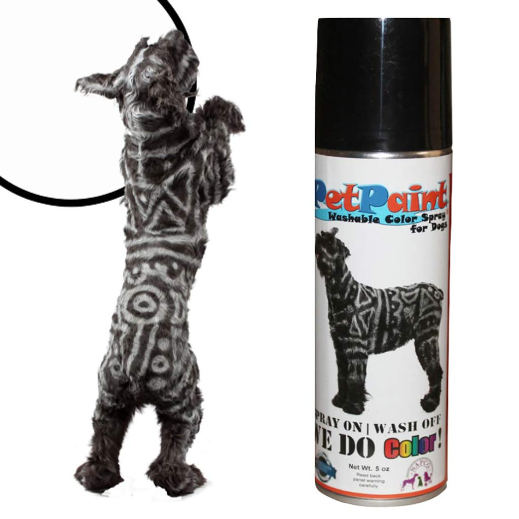 Pet Paint Washable Whippet White Colored Fur Spray