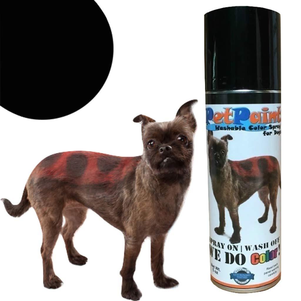 Pet Paint Basset Black Colored Fur Spray 5 oz