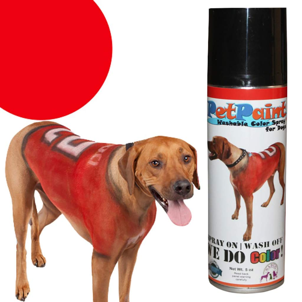 Pet Paint Rescue Red Colored Fur Spray 5 oz