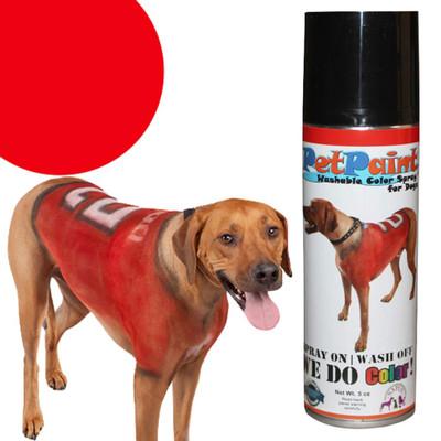 Pet Paint Rescue Red Colored Fur Spray 5 oz