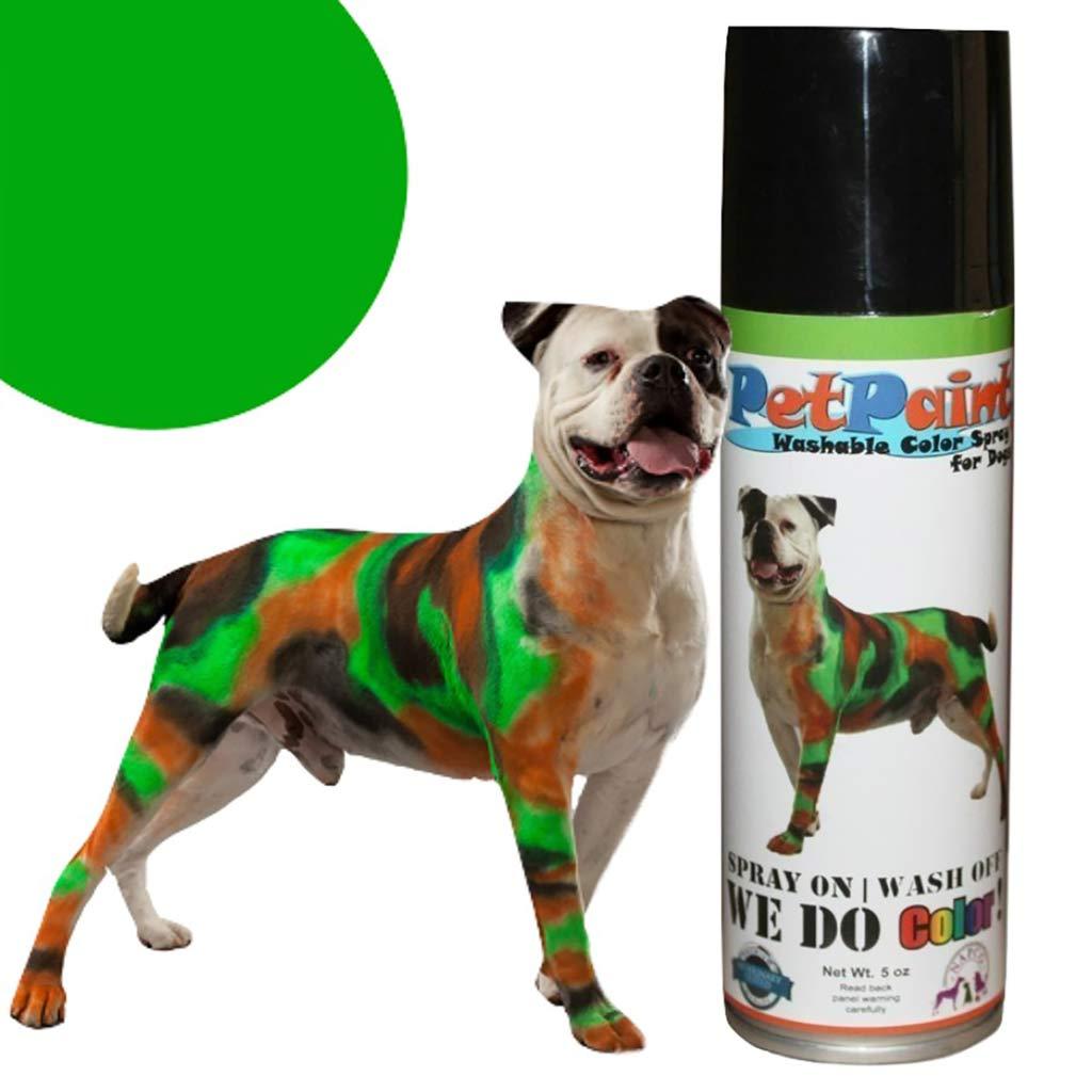 Pet Paint Greyhound Green Colored Fur Spray 5 oz