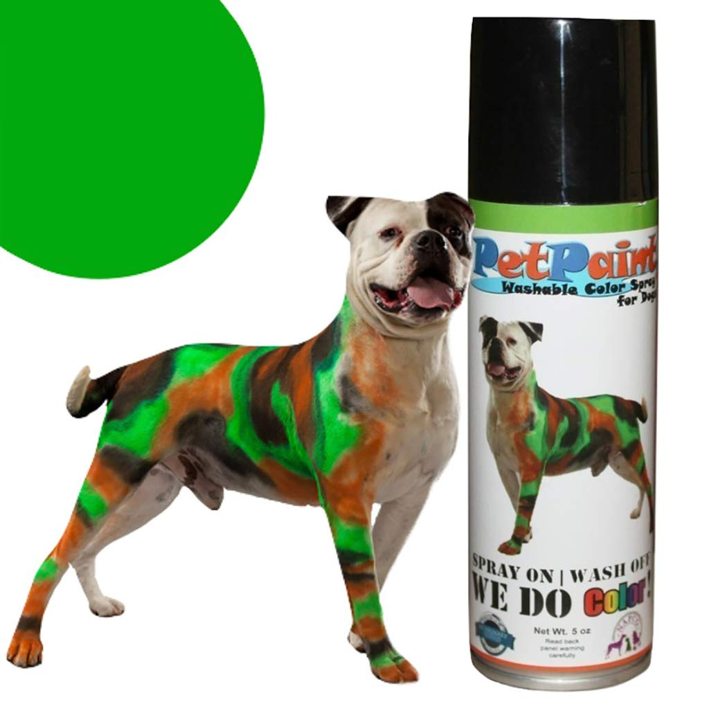 Pet Paint Greyhound Green Colored Fur Spray 5 oz