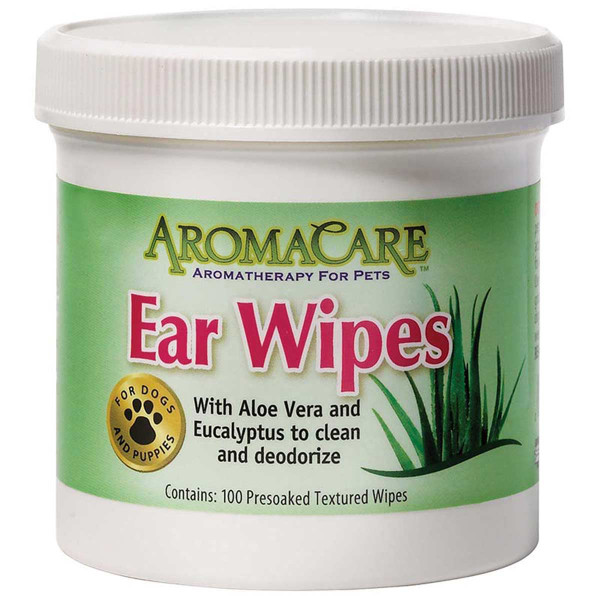 AromaCare Ear Wipes for Dogs 100 Count