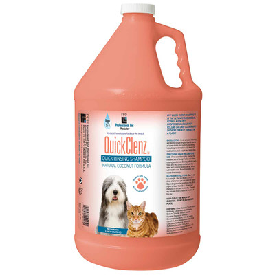 Gallon of Professional Pet Products QuickClenz Shampoo 35:1