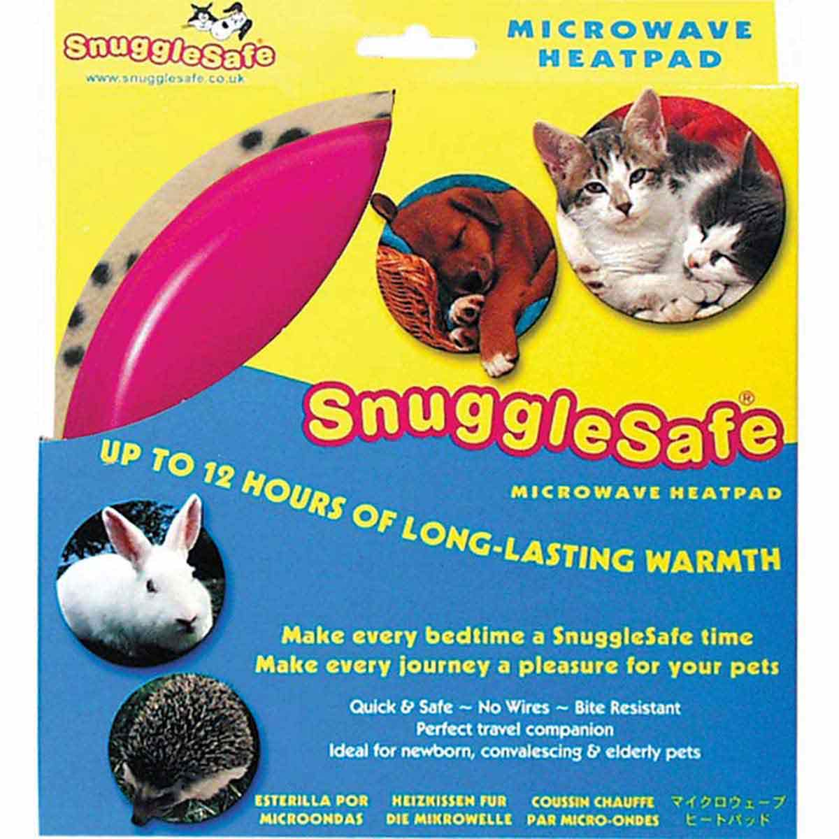 Snuggle Safe Microwave Heating Pad for Cats, Bunnies, or Hedgehogs