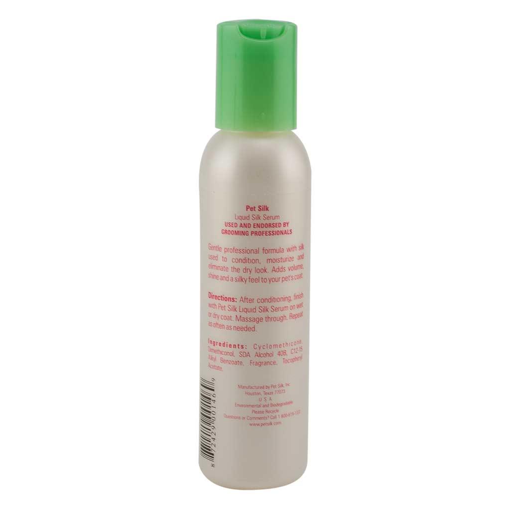 Back of 4 oz Pet Silk Liquid Silk Serum