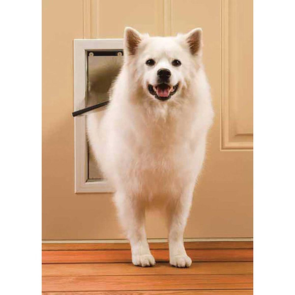 Pet Safe Medium Freedom Door for Dogs - White 8 1/8 inch by 11 3/4 inch