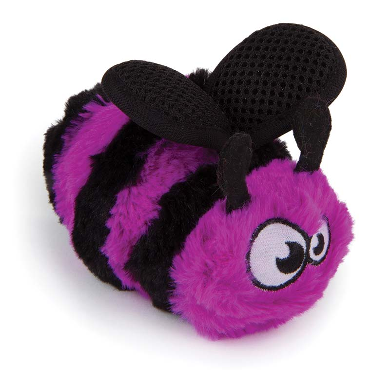 Small GoDog Bugs Purple Bee Dog Toy at Ryan's Pet Supplies
