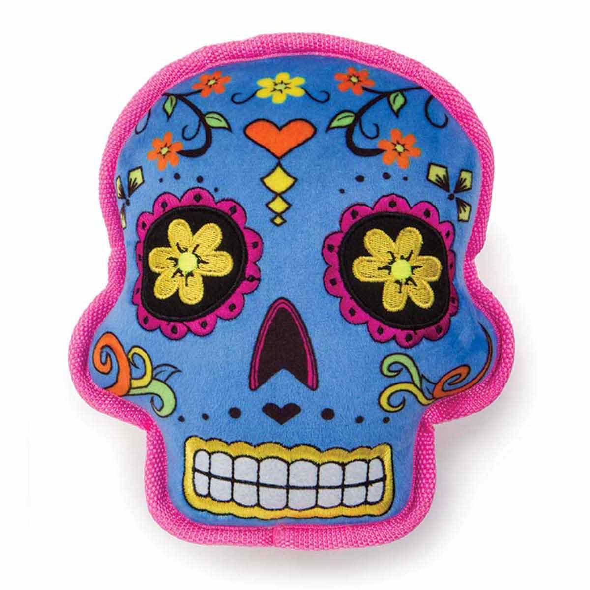 GoDog Sugar Skull Blue Large Throw Toy at Ryan's Pet Supplies