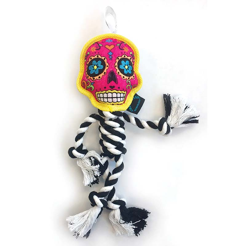 Pink GoDog Sugar Skulls Rope Tug at Ryan's Pet Supplies
