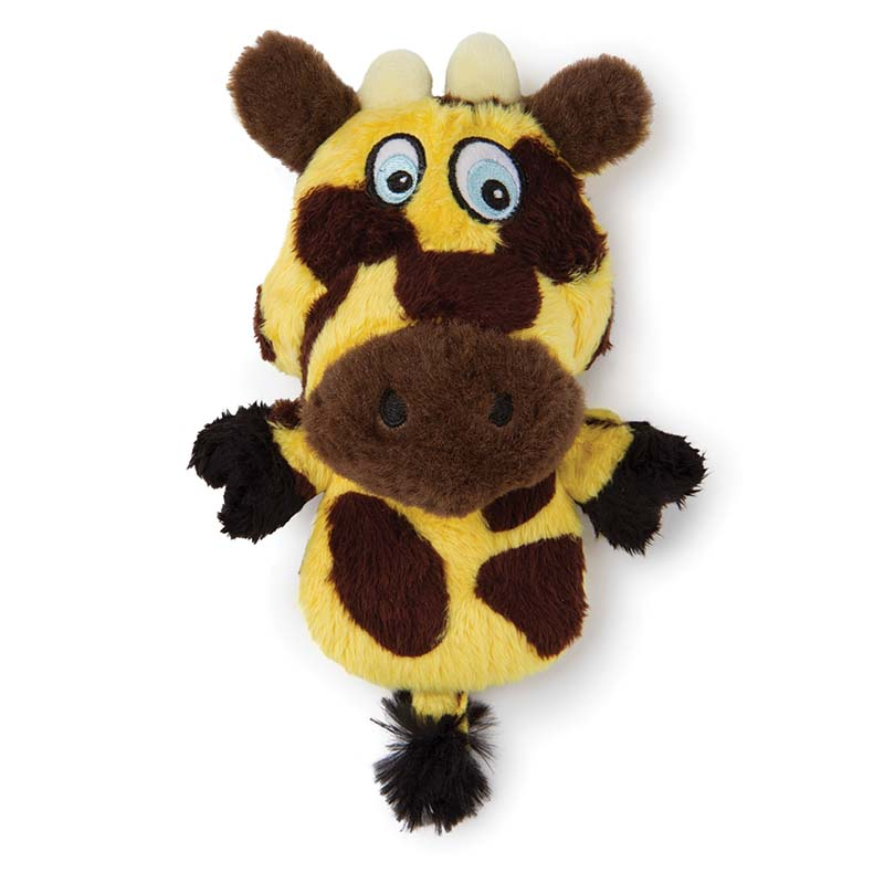 Small Hear Doggy Flat Giraffe Dog Toy with Chew Guard at Ryan's Pet Supplies