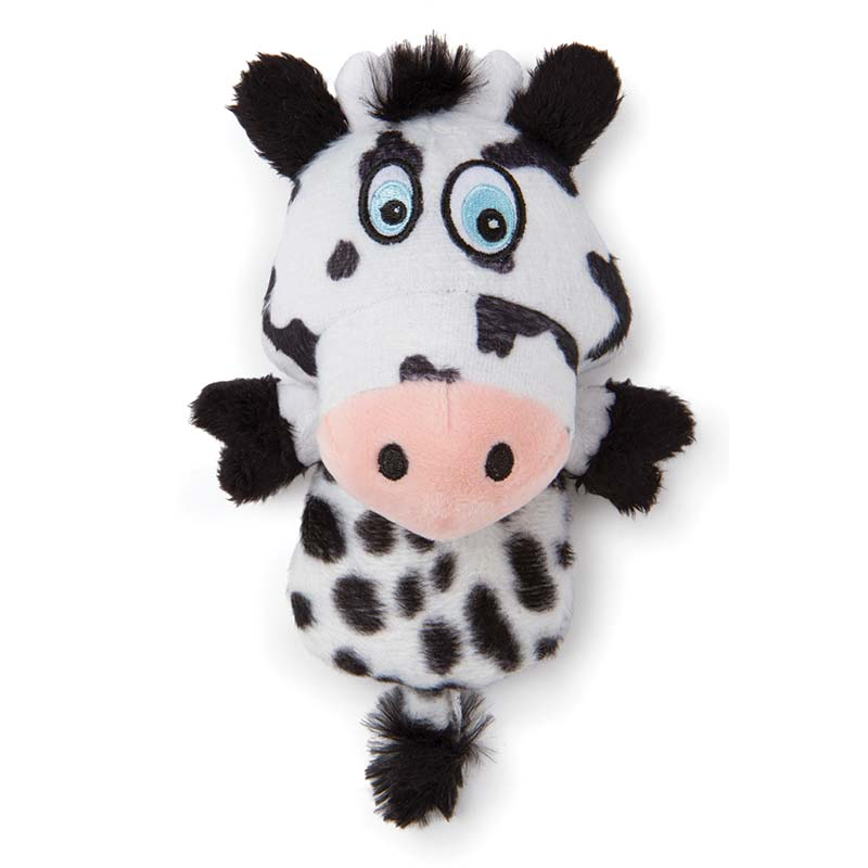Hear Doggy Flat Cow Small Dog Toy with Chew Guard at Ryan's Pet Supplies