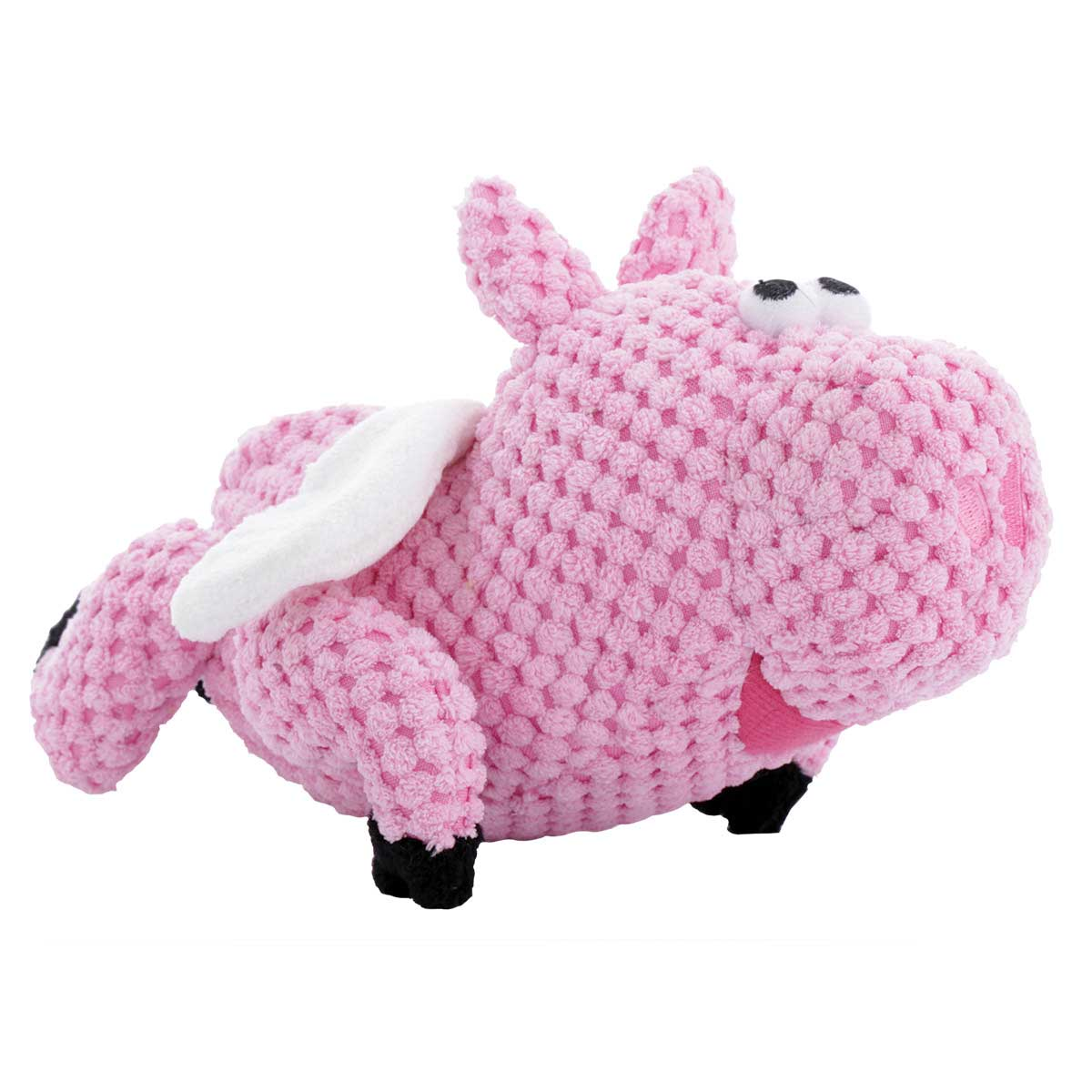 Small goDog Checkers Flying Pig Dog Toy 8 inch