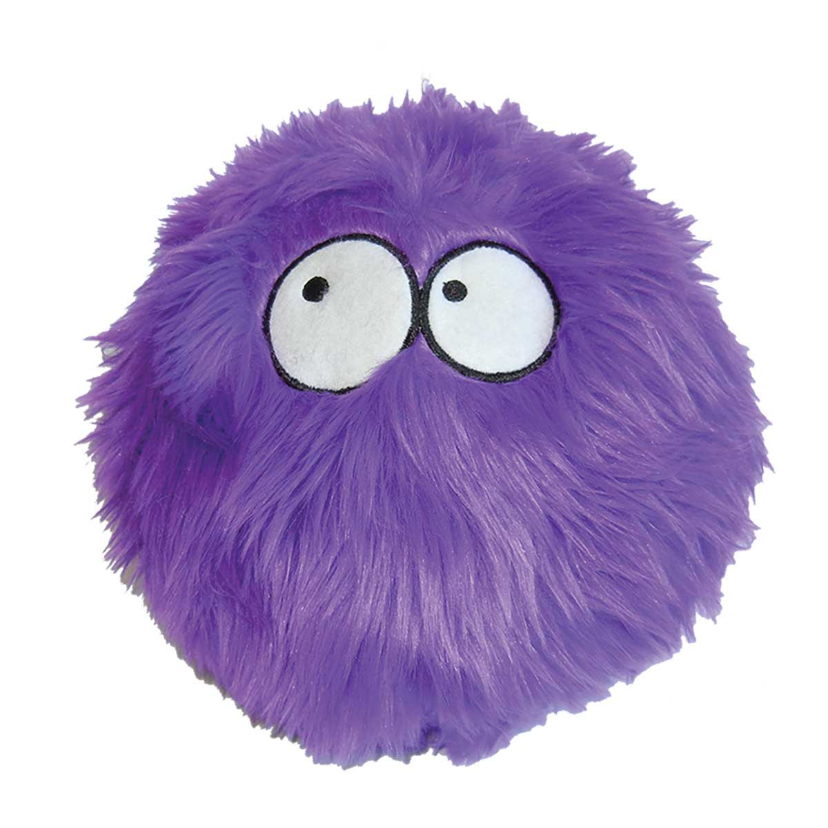 goDog Small Purple Furballz Dog Toy 4.5 inch