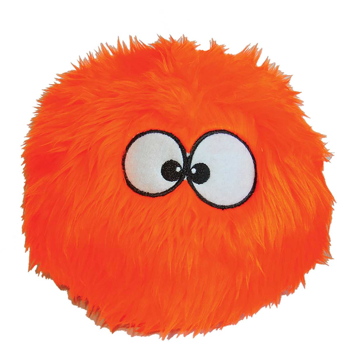 8 inch goDog Large Orange Furballz Toy for Dogs