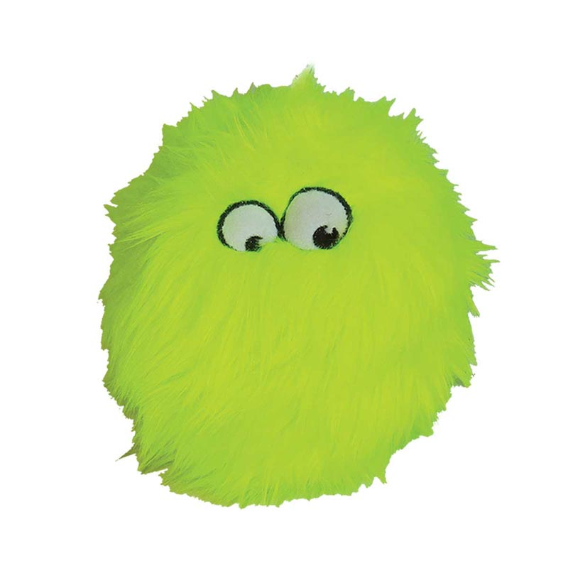 goDog Small Lime Furballz Dog Toy 4.5 inch