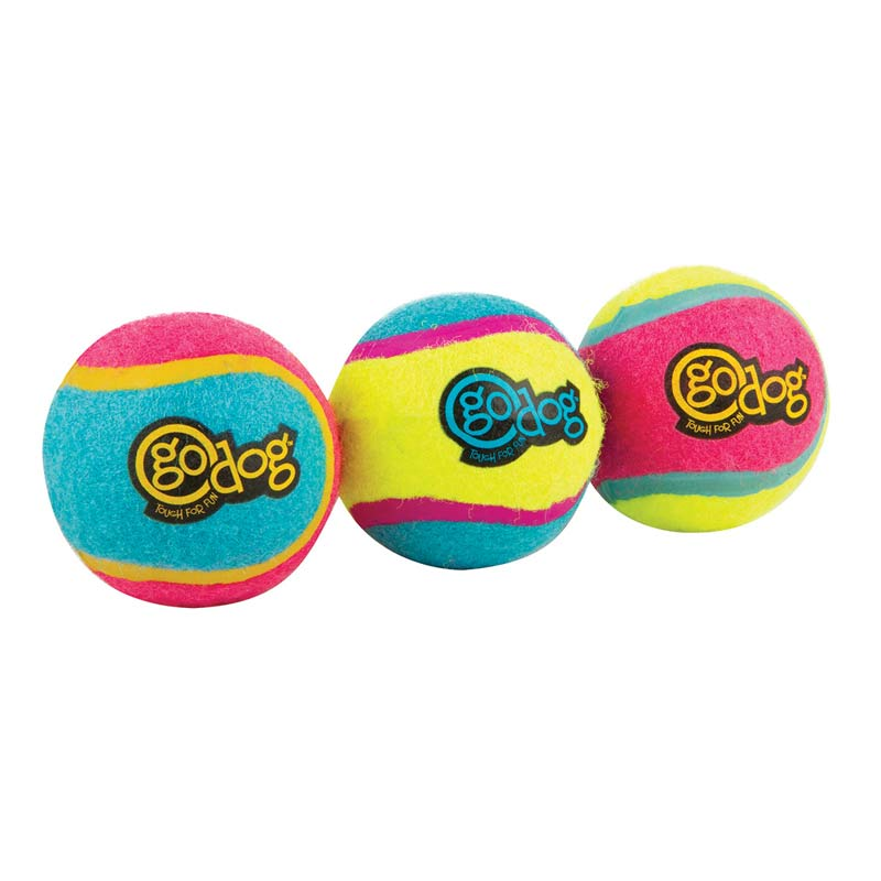 goDog Small Retrieval Ultimate Balls for Dogs 3 pack