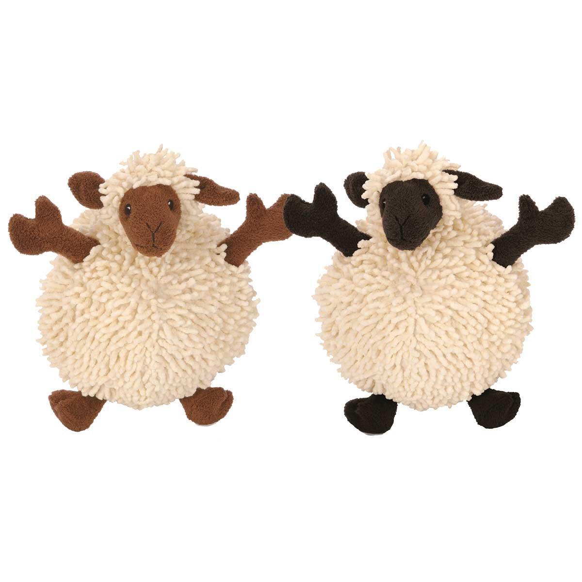 goDog Fuzzy Wuzzy Sheep Stuffed Dog Toy 8 inch