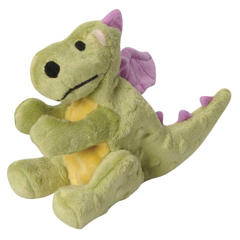 8 inch goDog Plush Large Dragon Green Dog Toy