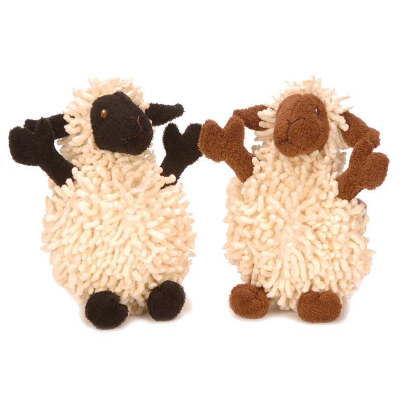 goDog Fuzzy Wuzzy Lamb Toy for Dogs 5 inch