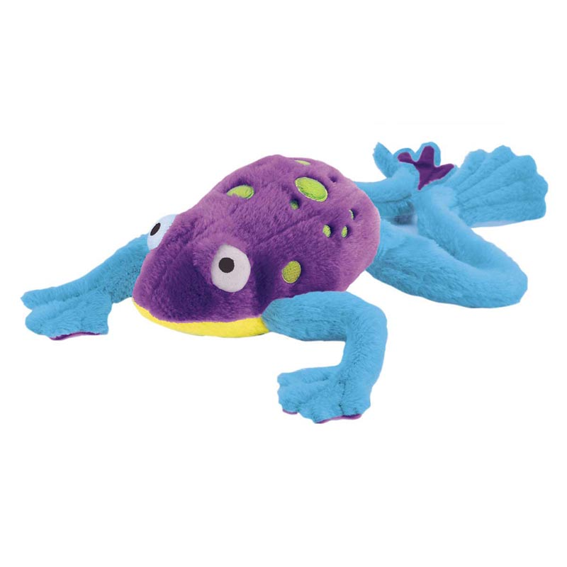 goDog Amphibianz Tree Frog Toy for Dogs with Chew Guard