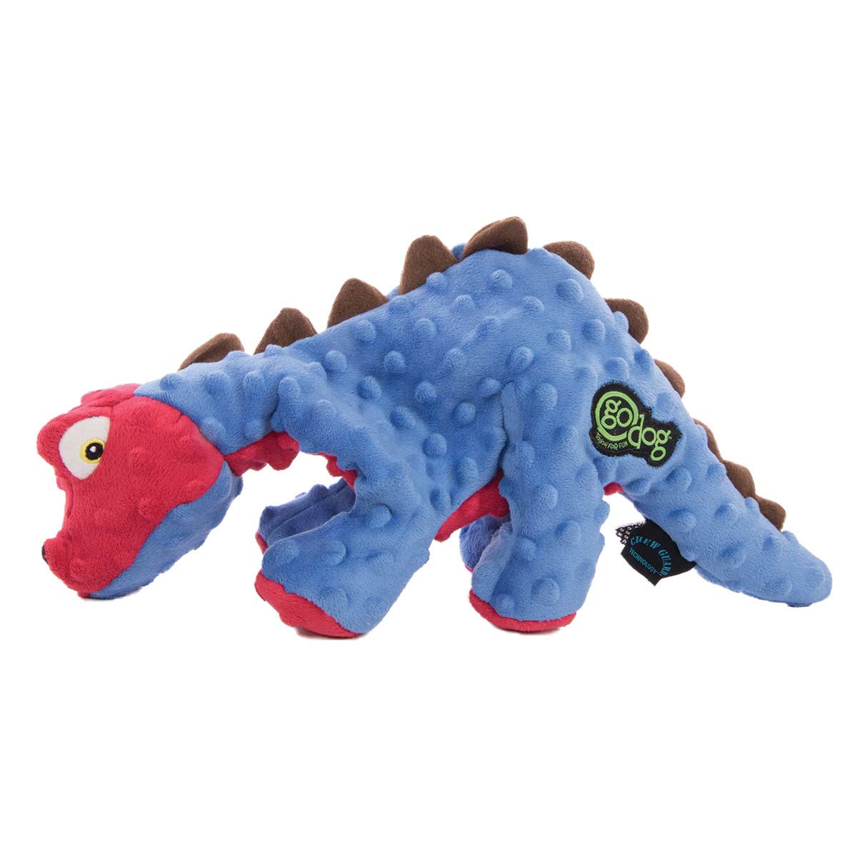 goDog Dinos Large Grunts Dog Toy - Large Spike