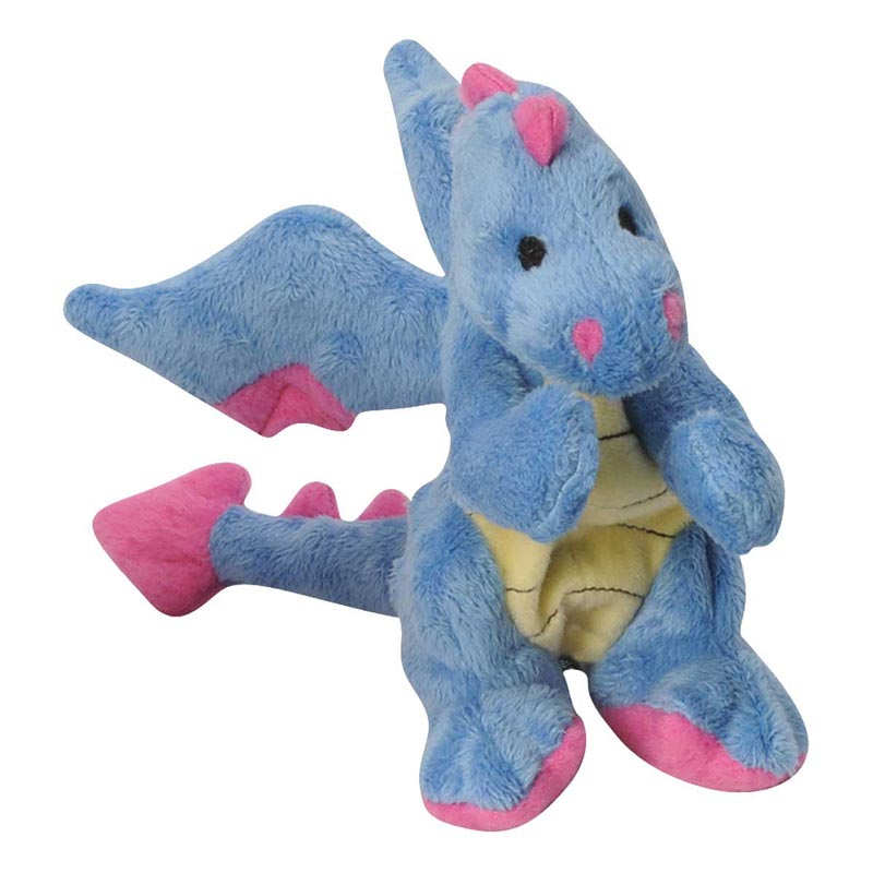 goDog Plush Periwinkle Dragon toy for Dogs Small 6 inch