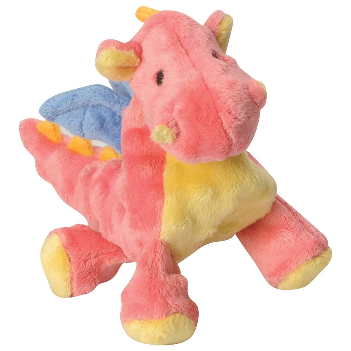 goDog Plush Dragon Coral Small 6 inch Dog Toy