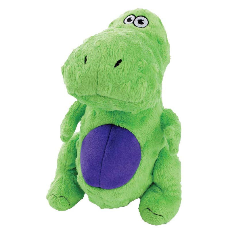 goDog Just For Me T-Rex Green With Chew Guard Dog Toy 5 inch
