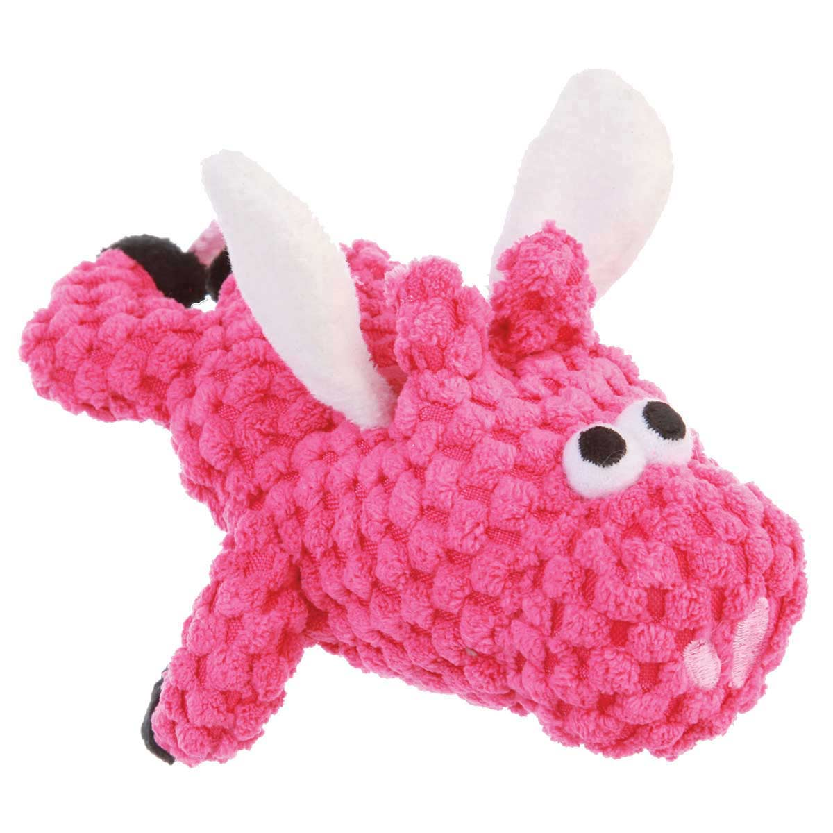 goDog Just For Me Checkers Flying Pig Pink With Chew Guard for dogs