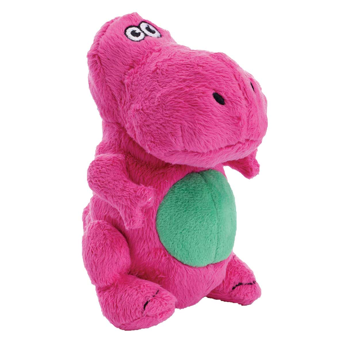 goDog Just For Me Pink T-Rex Toy for Dogs With Chew Guard 5 inch