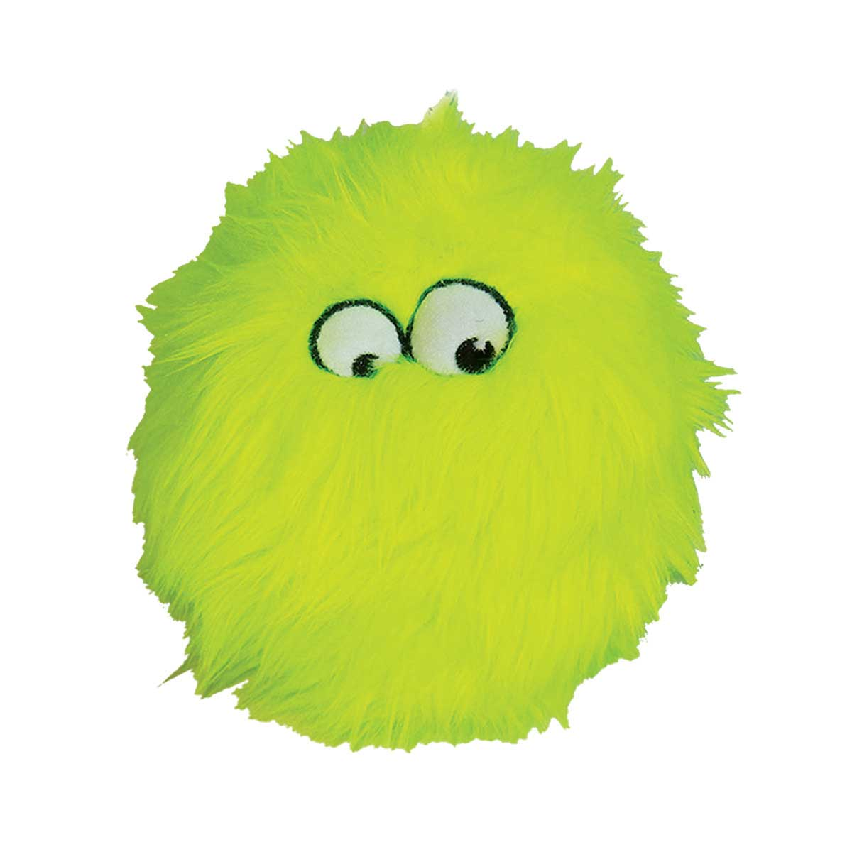 goDog Just For Me Lime Furballz Dog Toy With Chew Guard 3 inch