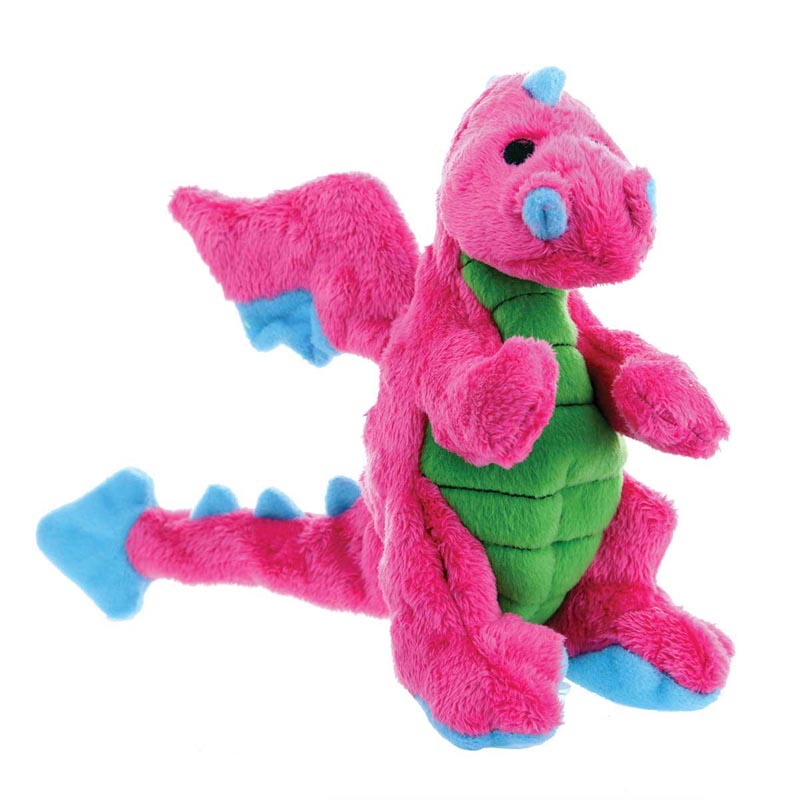 Hear Doggy Pink Plush Dragon Dog Toy Large 8 inches