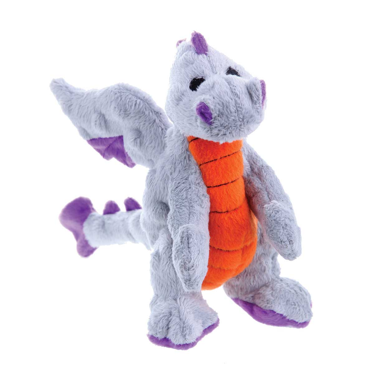 Gray Large 8 inch Hear Doggy Dragon Plush Toy for Dogs