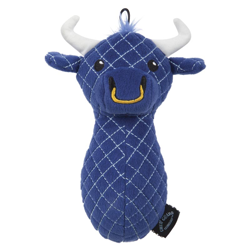 TrustyPup Bull Stuffed Dog toy with Chew Guard Technology