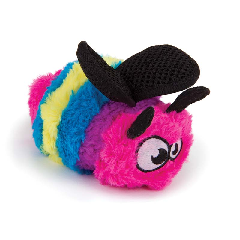 Small GoDog Bugs Rainbow Bee Dog Toy at Ryan's Pet Supplies