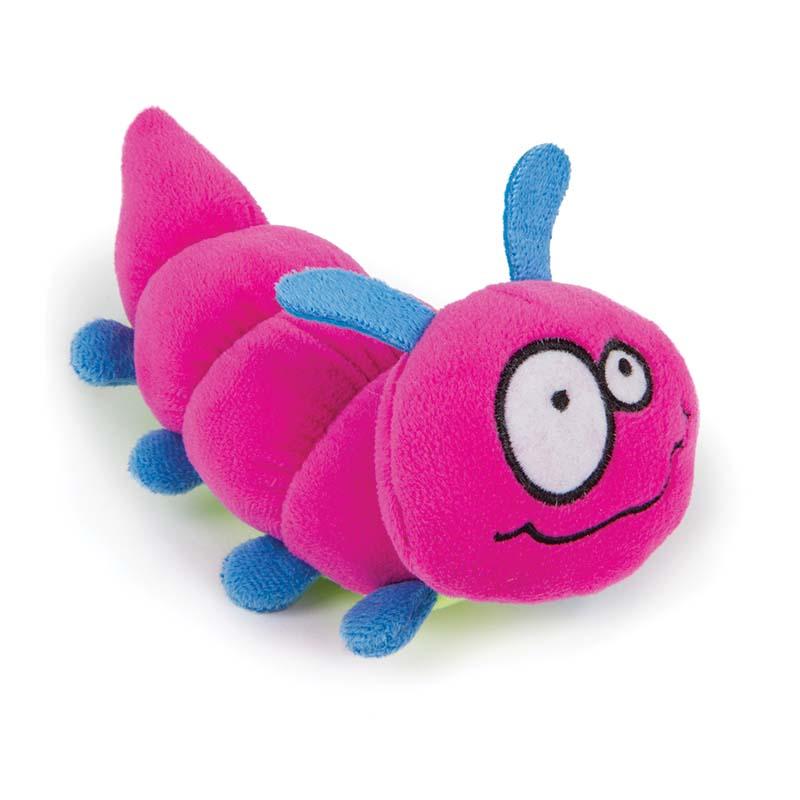 Small GoDog Bugs Pink Caterpillar Dog Toy at Ryan's Pet Supplies