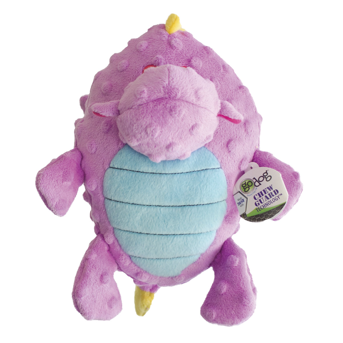 goDog Violet Large Dragons with Chew Guard - Grunting Dog Toy