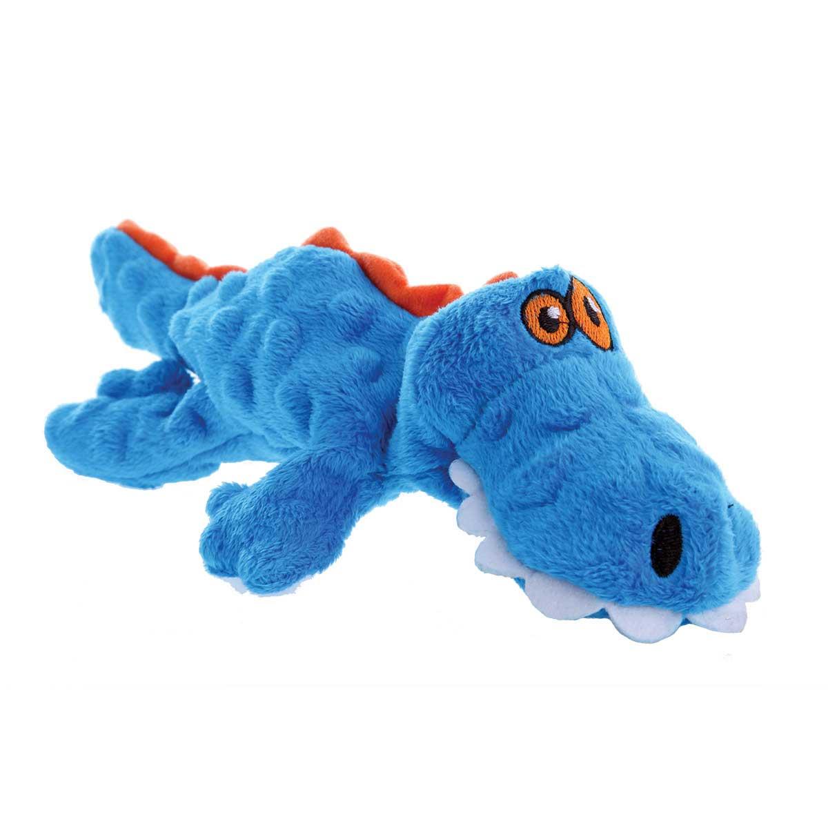 Small 10 inch Blue Hear Doggy Soft Gator Dog Toy