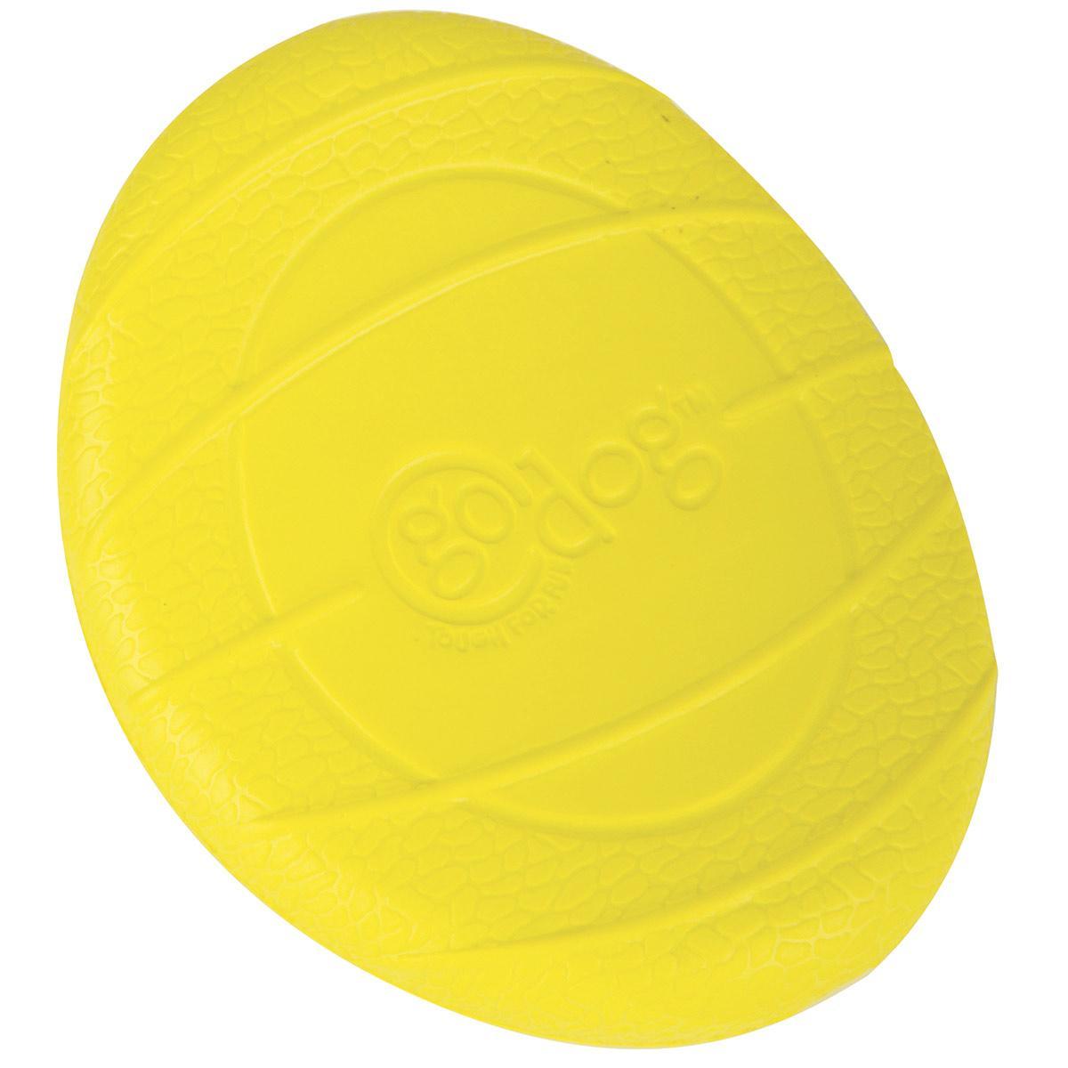 goDog RhinoPlay Flip Junior Yellow Dog Fetch Toy