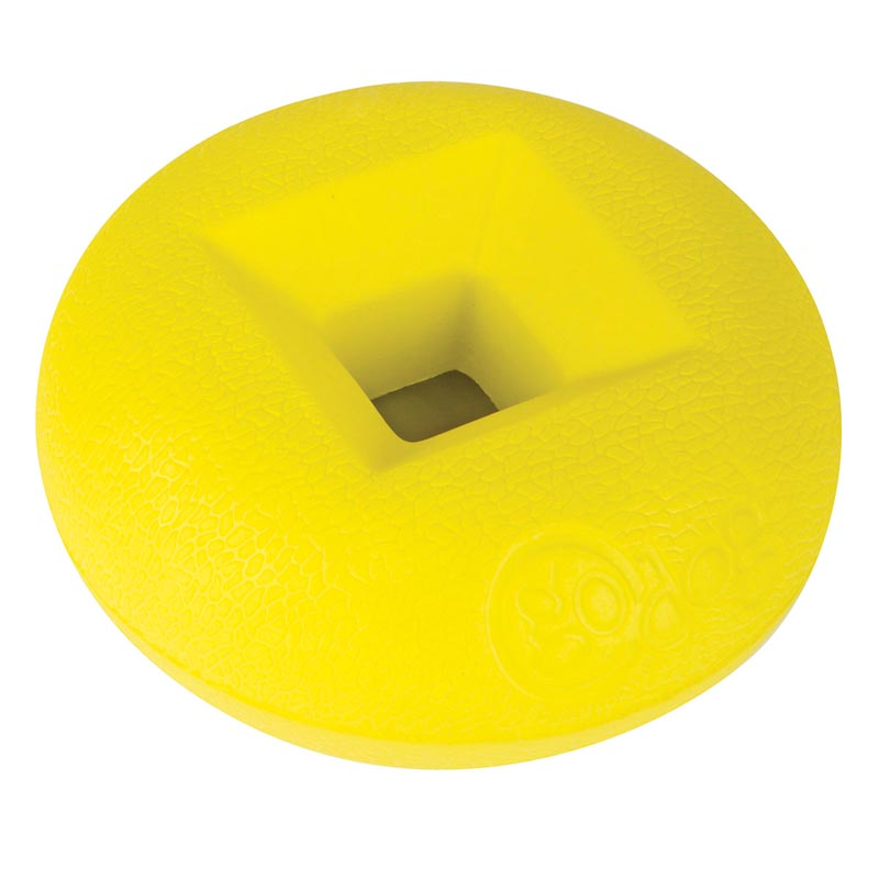 goDog RhinoPlay CIRQ Yellow - Easy to Pick Up Dog Toy