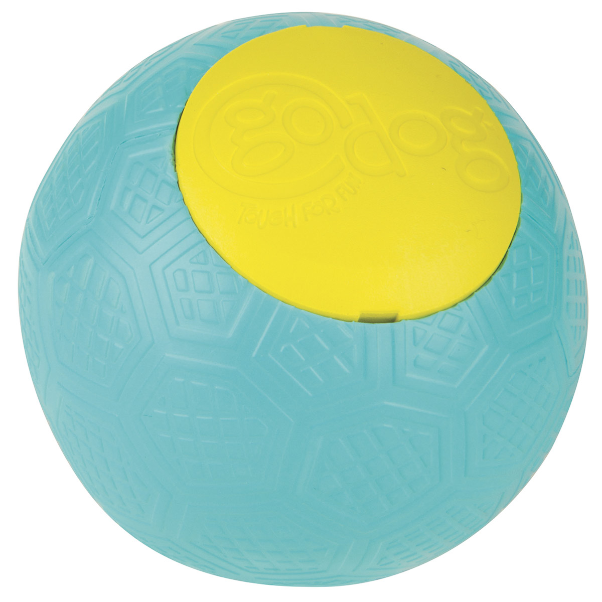 goDog RhinoPlay Beast Teal Rubber Ball for Dogs
