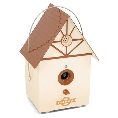 PetSafe Outdoor Bark Control Device Looks Like a Bird House for Discretion