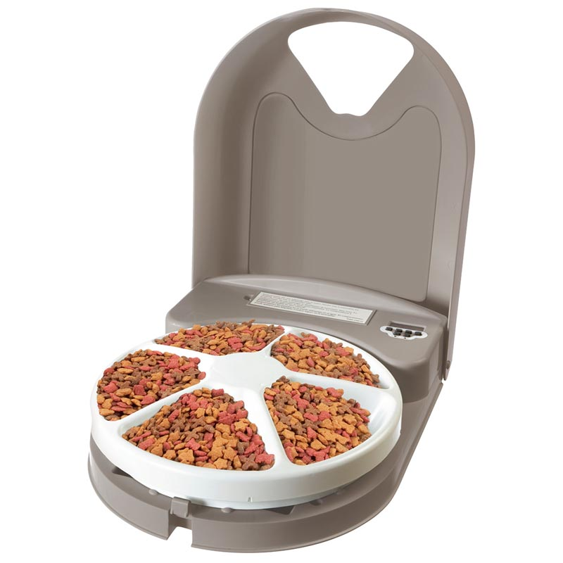Eatwell 5 Meal Rotating Pet Feeder for Cats or Dogs